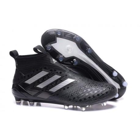Nouveau Adidas ACE 17+ Purecontrol FG Chaussure de Foot Noir Blanc Nuit métallique
