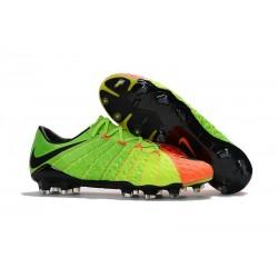 Chaussure de Foot Nike Hypervenom 3 FG Pas Cher Vert Noir Orange