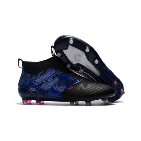 Nouveau Adidas ACE 17+ Purecontrol FG Chaussure de Foot Dragon Noir Bleu