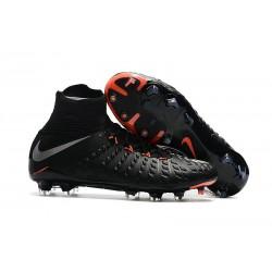 Nouvelle Chaussures de Foot Nike HyperVenom Phantom 3 FG Pas Cher Noir Argent Anthracite