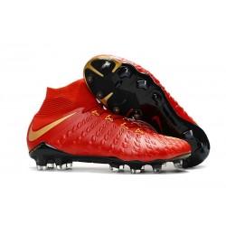 Crampon de Foot Soldes - Nike HyperVenom Phantom III FG Or Rouge