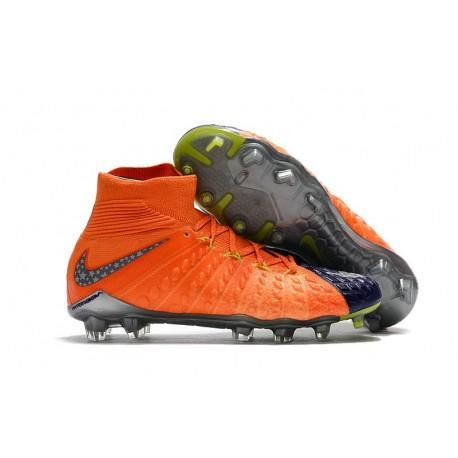 Crampon de Foot Soldes - Nike HyperVenom Phantom III FG Orange Bleu