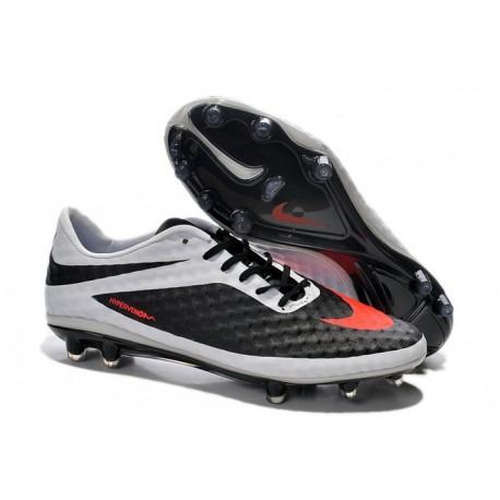 Nouvelle Chaussure Homme Nike Hypervenom Phantom FG Noir Blanc Rouge