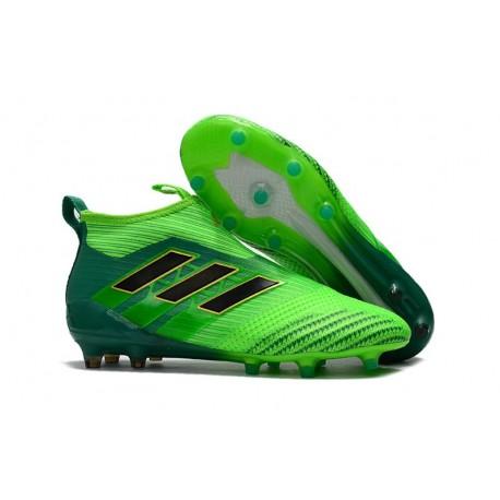 Adidas ACE 17+ Purecontrol FG Chaussure de Foot Pour Homme - Vert solaire Noir Vert