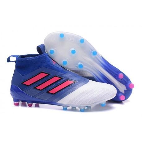 Nouveau Adidas ACE 17+ Purecontrol FG Chaussure de Foot Bleu Rouge Blanc