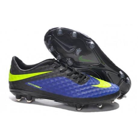 Coupe du monde 2014 Crampons Nike Hypervenom Phantom FG Bleu Noir Jaune
