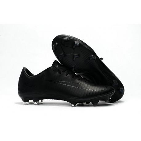 Nouvelles Nike Mercurial Vapor 11 FG Crampons de Football pour Hommes Tout Noir