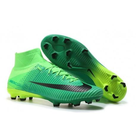 Chaussures de Foot Nike Mercurial Superfly V FG Noir Vert