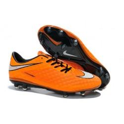 2014/2015 Chaussure de Football Nike Hypervenom Phantom FG Orange Blanc