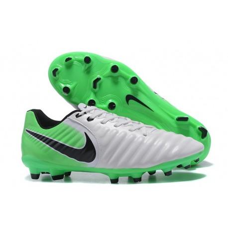 Nike Tiempo Legend VII FG - Chaussures Nike 2017 Blanc Vert Noir