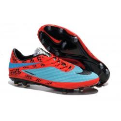 Nouvelle Chaussure Homme Nike Hypervenom Phantom FG Bleu Rouge Noir