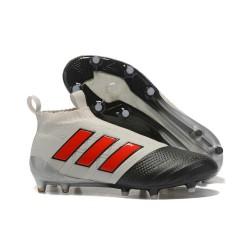 Nouveau Adidas ACE 17+ Purecontrol FG Chaussure de Foot Gris Rouge Noir