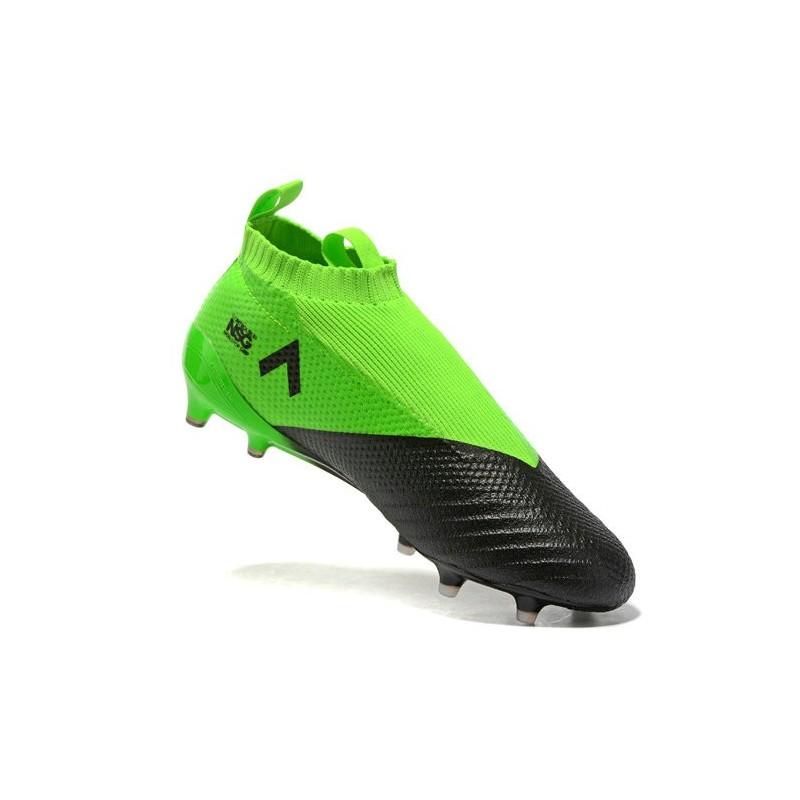 best sneakers 7ea1c 21070 Chaussure Adidas Ace 17+ Purecontrol FG Crampons Foot Pas Cher Vert Noir  Argenté
