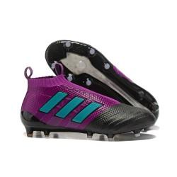Chaussure Adidas Ace 17+  Purecontrol FG Crampons Foot Pas Cher Violet Bleu Noir