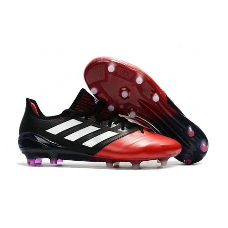 Nouveau Chaussure de foot Adidas Ace 17.1 FG Noir Rouge Blanc