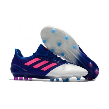 Nouveau Chaussure de foot Adidas Ace 17.1 FG Bleu Rose Blanc