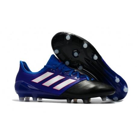 Nouveau Chaussure de foot Adidas Ace 17.1 FG Noir Blanc Bleu