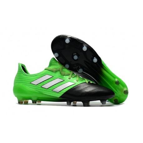 Nouveau Chaussure de foot Adidas Ace 17.1 FG Vert Solaire Blanc Noir