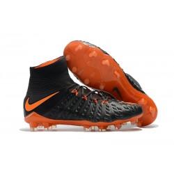 Nouvelles Crampons Foot - Chaussure Hypervenom Phantom III ACC DF FG Orange Noir
