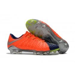 Chaussures de Football pour Hommes Nike Hypervenom Phantom III FG Orange Bleu Argent