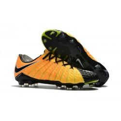Chaussures de Football pour Hommes Nike Hypervenom Phantom III FG Jaune Noir