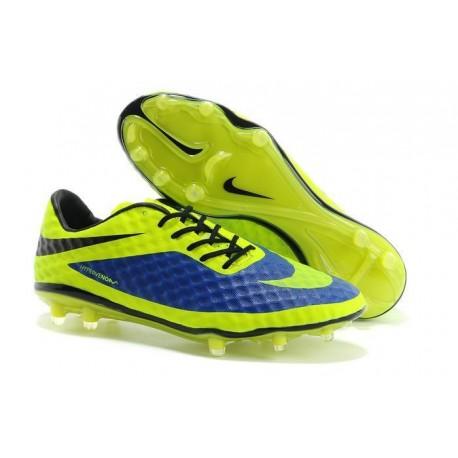 2014/2015 Chaussure de Football Nike Hypervenom Phantom FG Bleu Vert
