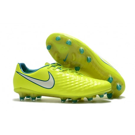 Nouvelle Crampons Nike Magista Opus II FG Volt Blanc