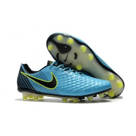 Nouvelle Crampons Nike Magista Opus II FG Bleu Volt Noir