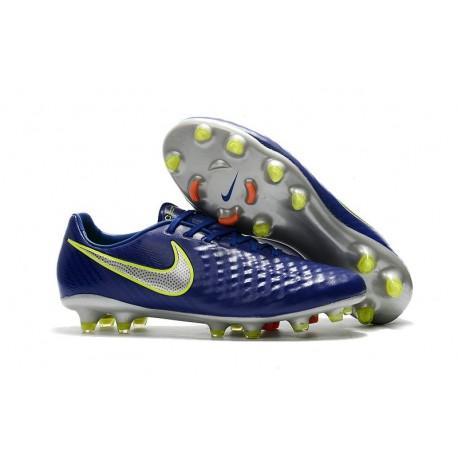 Chaussure De Football Nike Magista Opus II FG Pour Homme Bleu Volt Argent
