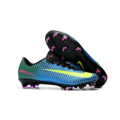 Nike Mercurial Vapor XI FG Chaussures De Foot 2017 Bleu Volt Rose