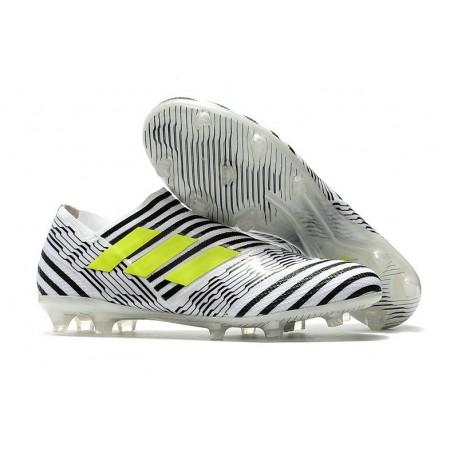 Nouveau Crampons - Chaussures adidas Nemeziz 17+ 360 Agility FG Blanc Jaune Noir