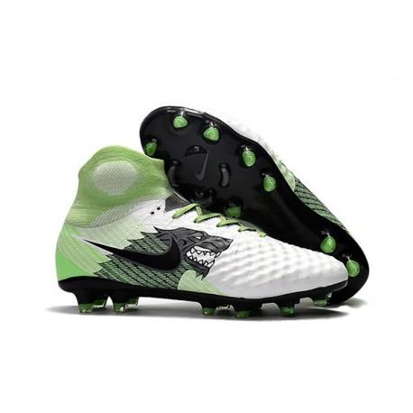 Nouvelles Crampons foot Nike Magista Obra II FG Blanc Vert Noir