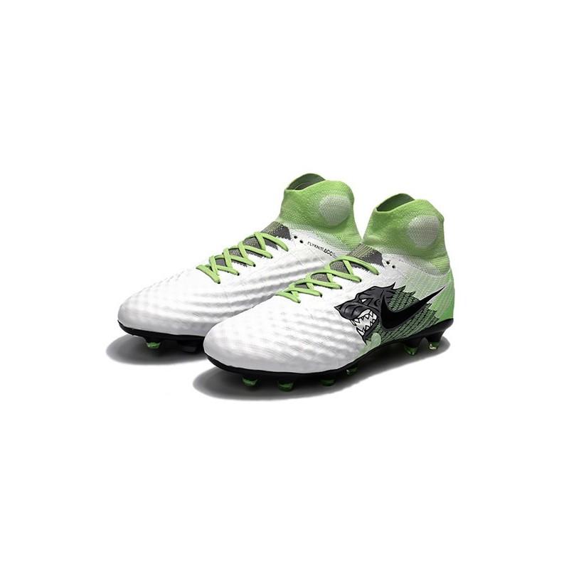 uk availability 1ef12 a0c4e Nouvelles Crampons foot Nike Magista Obra II FG Blanc Vert N