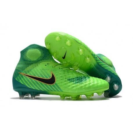 Nouvelles Crampons foot Nike Magista Obra II FG Vert Noir