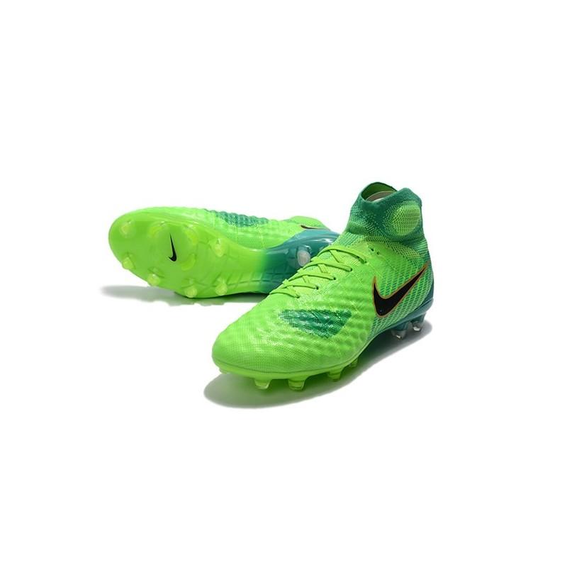 best website 45e03 e8dd7 Nouvelles Crampons foot Nike Magista Obra II FG Vert Noir