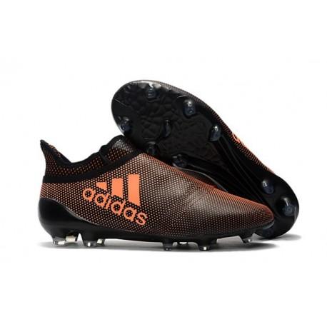 Nouveau Chaussure adidas X 17+ Purespeed FG Orange Noir