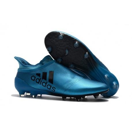 Nouveau Chaussure adidas X 17+ Purespeed FG Bleu Noir