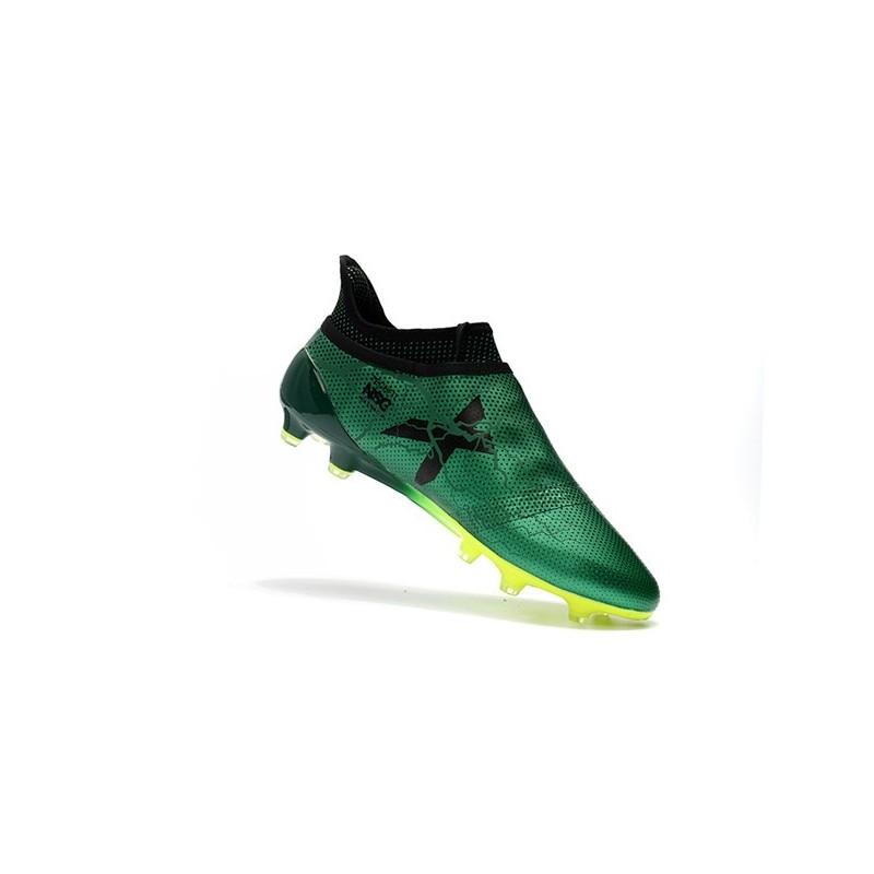 Nouveau Chaussure adidas X 17+ Purespeed FG Vert Noir Volt
