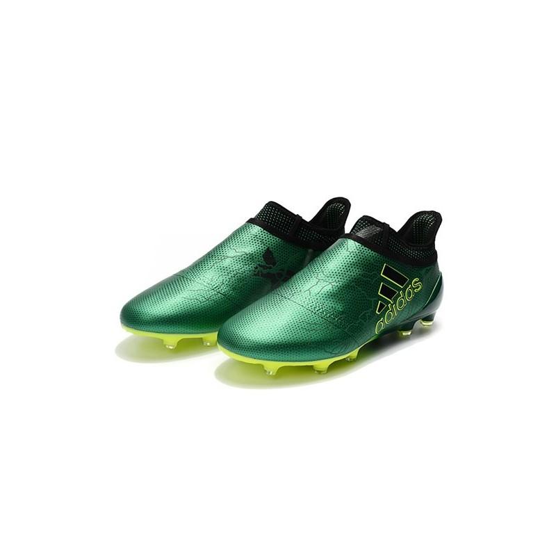 newest 0a676 bce31 Nouveau Chaussure adidas X 17+ Purespeed FG Vert Noir Volt