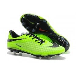 Coupe du monde 2014 Crampons Nike Hypervenom Phantom FG Vert Noir