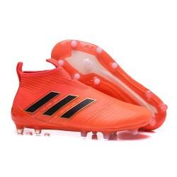 Nouveau Adidas ACE 17+ Purecontrol FG Chaussure de Foot Orange Noir