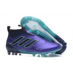 Chaussure Adidas Ace 17+  Purecontrol FG Crampons Foot Pas Cher Legend Ink Noir Energy Aqua