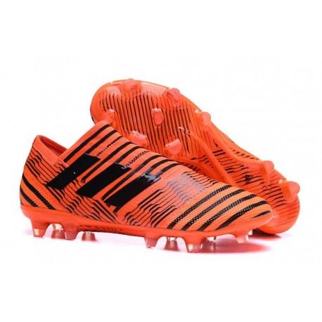 Nouveau Crampons - Chaussures adidas Nemeziz 17+ 360 Agility FG Orange Noir