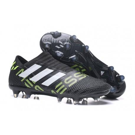 Nouveau Crampons - Chaussures adidas Nemeziz 17+ 360 Agility FG Noir Black Jaune