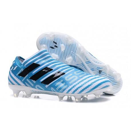 Nouveau Crampons - Chaussures adidas Nemeziz 17+ 360 Agility FG Blanc Legend Ink Bleu