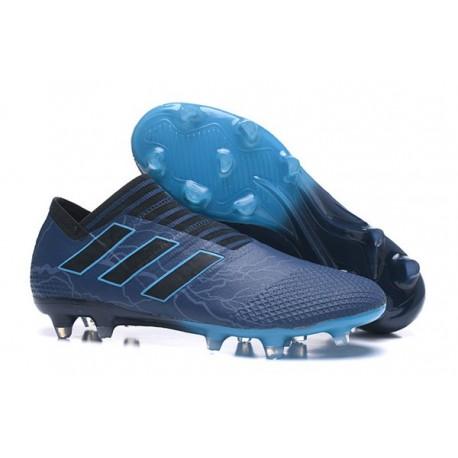 Nouveau Crampons - Chaussures adidas Nemeziz 17+ 360 Agility FG Bleu Noir
