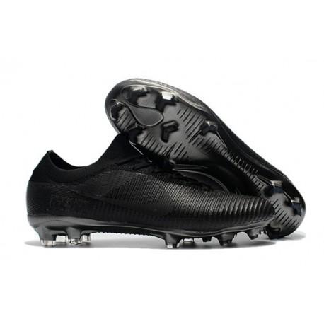 Nouveau Chaussures de football - Nike Mercurial Vapor Flyknit Ultra FG Tout Noir
