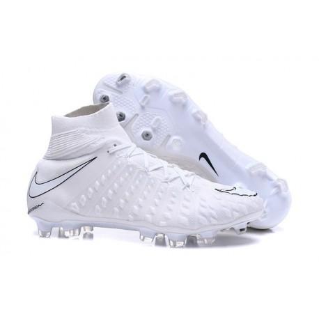 Nouvelles Crampons Foot - Chaussure Hypervenom Phantom III ACC DF FG Tout Blanc