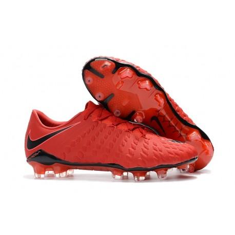 Chaussures de Football pour Hommes Nike Hypervenom Phantom III FG Rouge Noir