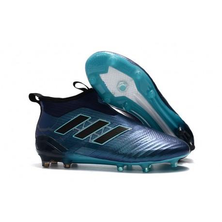 Nouveau Adidas ACE 17+ Purecontrol FG Chaussure de Foot Bleu Noir